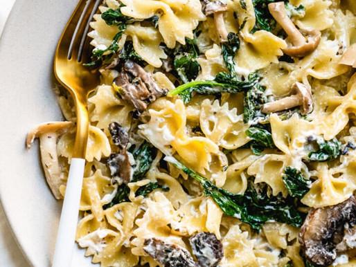 Mushroom and Goats Cheese Pasta