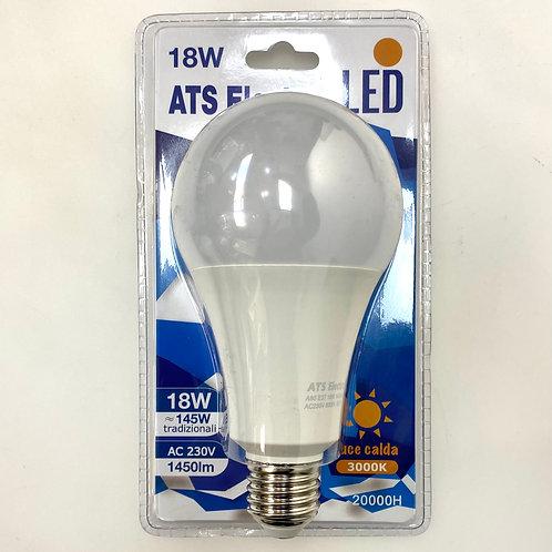 LAMPADINA LED A80 18W E27220V LUCE CALDA / FREDDA
