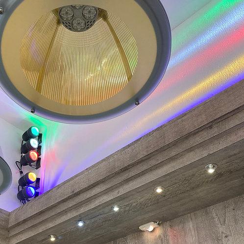PROIETTORE A LED 10W 10° LUCE FREDDA / ROSSA / VERDE / BLU / GIALLA