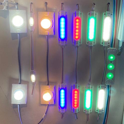 MODULO LED 1.6W 12V IP67 LUCE FREDDA / ROSSA / BLU / VERDE