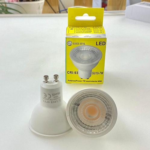 LAMPADINA LED GU10 7W COB LUCE CALDA / NATURALE / FREDDA