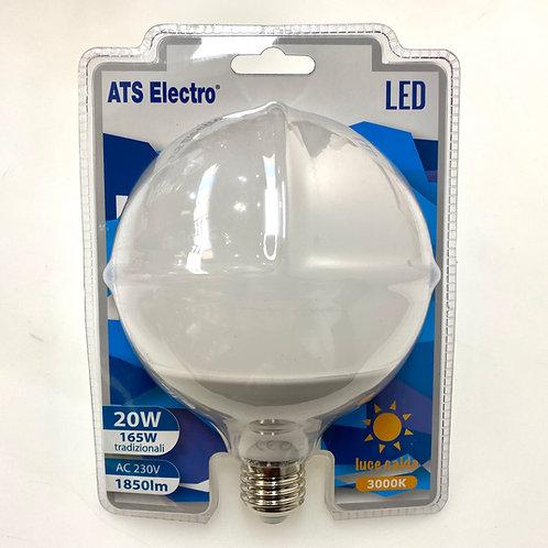 LAMPADINA LED G120 20W E27220V LUCE CALDA / FREDDA