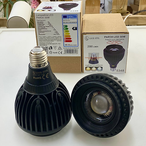 PAR30 30W LED COB DIMMERABILE Angolo e colore luce regolabili