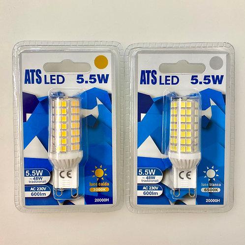 LAMPADINA LED G9 5,5W LUCE CALDA / FREDDA