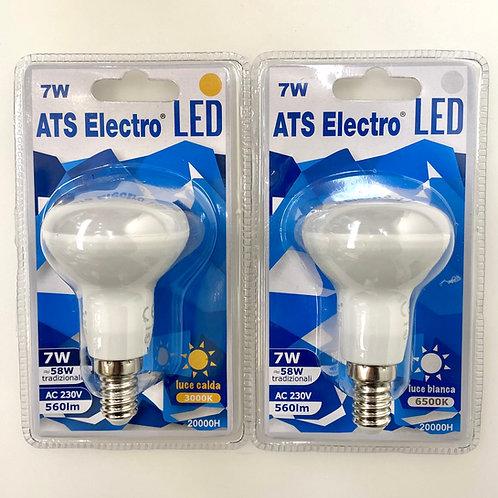 LAMPADINA LED R50 7W E14 220V LUCE CALDA / FREDDA