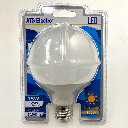 LAMPADINA LED G95 15W E27220V LUCE CALDA / FREDDA