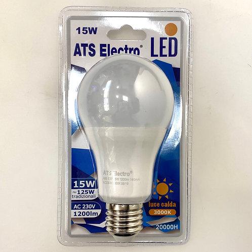 LAMPADINA LED A65 15W E27 220V LUCE CALDA / NATURALE / FREDDA