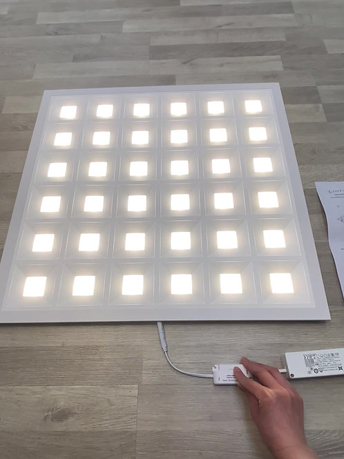 PANNELLO LED 60X60cm POTENZA 34-40W o 48W e COLORE LUCE REGOLABILE