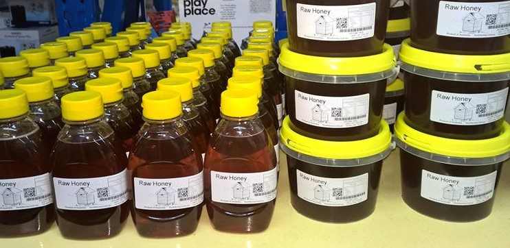Honey, bees wax, honey soap, honey marinades are some of the locally made products by Chris Hall.