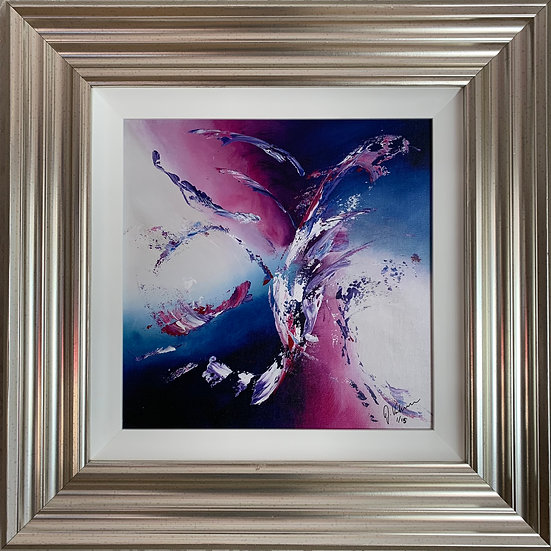 On the Wings of Love - Framed Fine Art Canvas Print