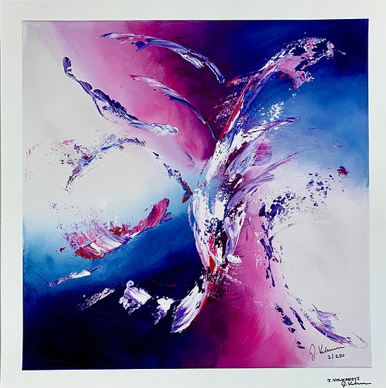 On the wings of love - Abstract Painting Art print