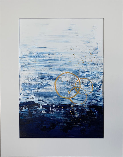 Classic Blue 1 - Abstract Painting Art on Paper
