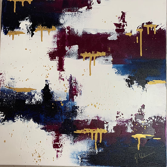 Deeply Drippy - Textured abstract contemporary painting