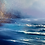 Thumbnail: A moment of reflection - Framed original seascape painting - 59cm x 59cm