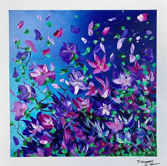 Flowers Under Moonlight - Art Print
