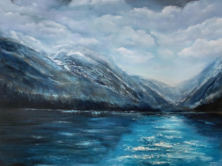 Mountain View - Fine Art Giclee Print