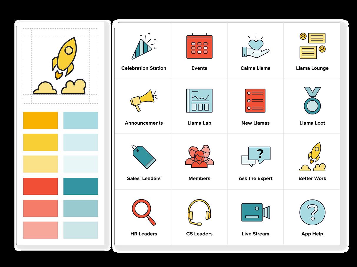 LlamaNation Feature Icons