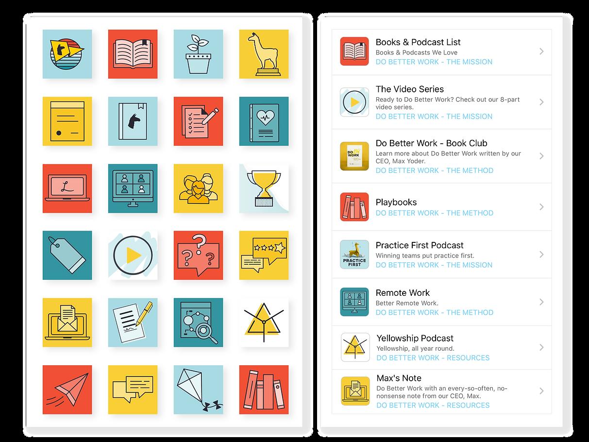 LlamaNation Activity Icons