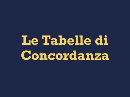 Le Tabelle di Concordanza