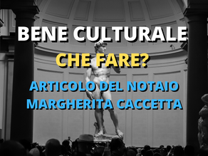 BENE CULTURALE - CHE FARE?