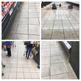 Safety flooring cleaned with FreshClean