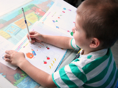 Занятия дома с трехлеткой