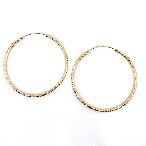"""""""Alicia"""" Gold Hoops"""