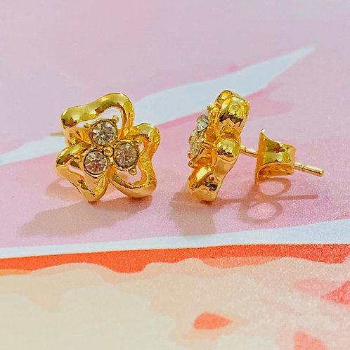 """Amelia"" Clover Stud Earrings"