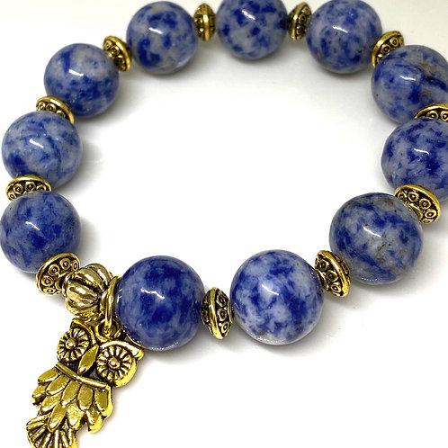 Focus Sodalite Genuine Gemstone Bracelet