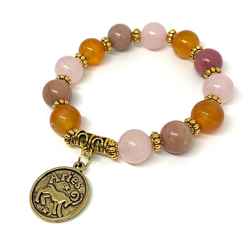 Aries Beaded Gemstone Bracelet