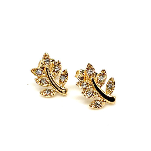 """Felicity"" Leaf Stud Earrings"