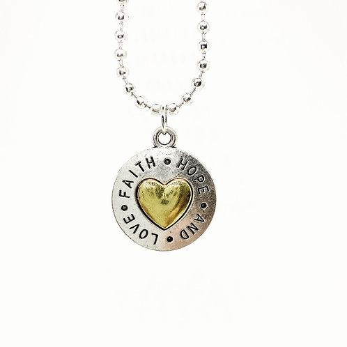 Love, Hope and Faith Necklace