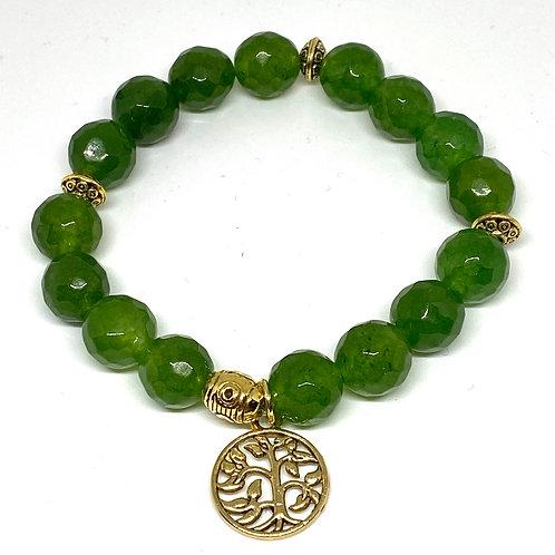 Prosperity Jade Beaded Bracelet