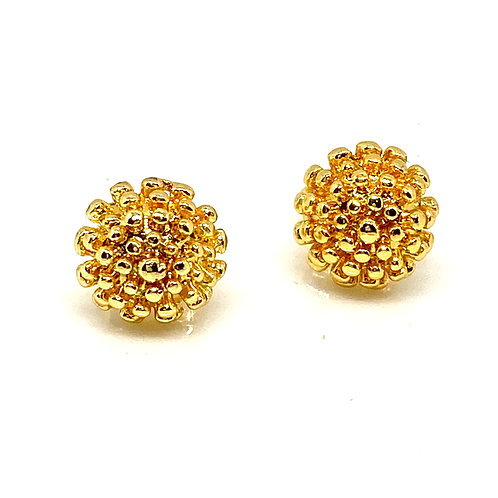 """Athena"" Floral Gold Earrings"