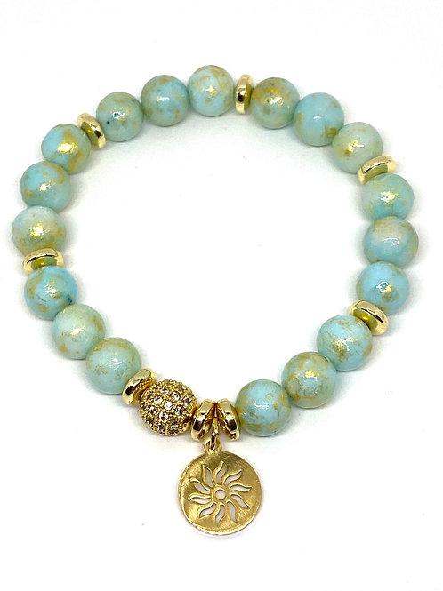 Calm and Energy Jade Gemstone Bracelet