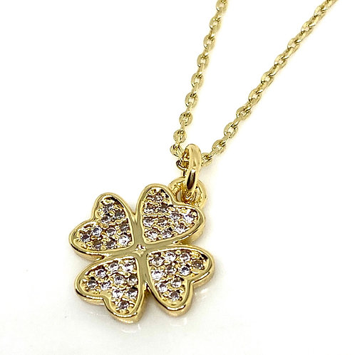 Good Fortune Lucky Clover Necklace