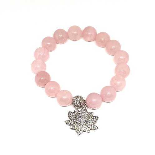 Love Rose Quartz Gemstone Bracelet