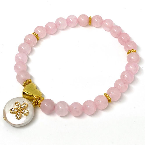 Love and Devotion Rose Quartz Bracelet