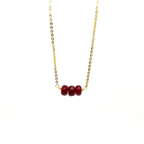 Wisdom and Abundance Ruby Necklace