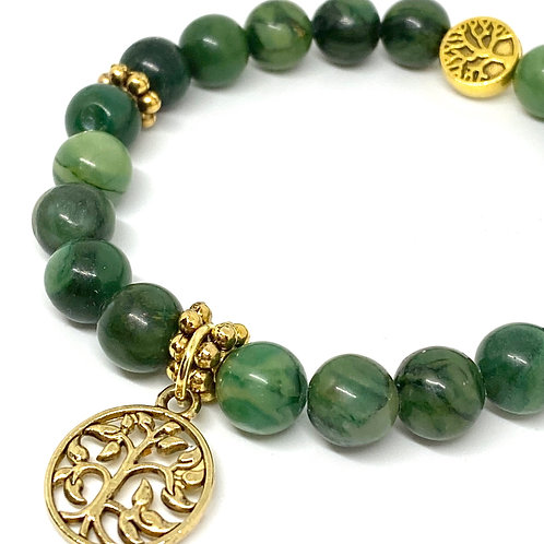 Prosperity Jade Gemstone Bracelet