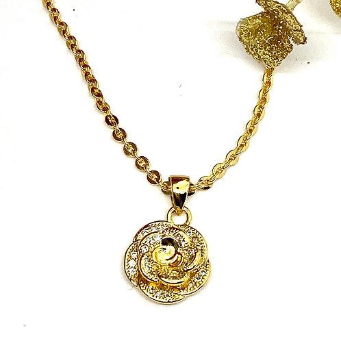 Camelia Gold Necklace