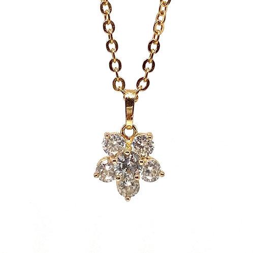Belle  Floral Gold Necklace