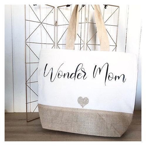 Sac bi-matière Wonder mom
