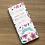 Thumbnail: Tablette maitresse personnalisée motif floral