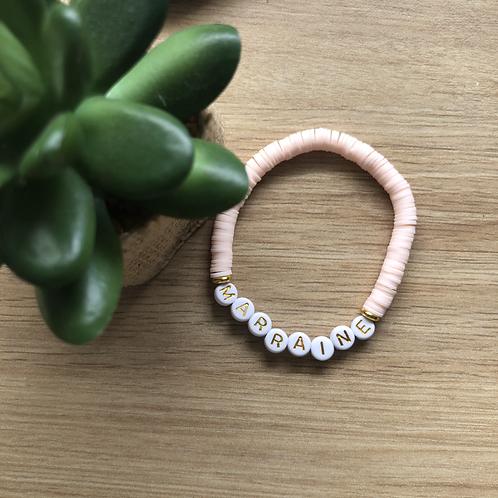 Bracelet Rose pastel