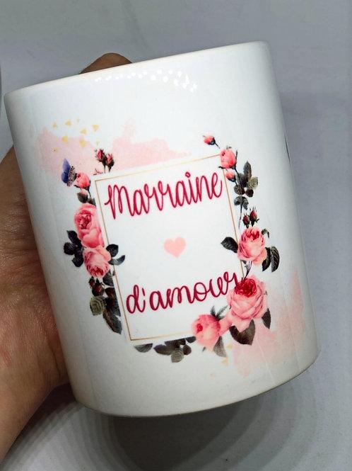 """Mug """"Marraine d'amour"""""""
