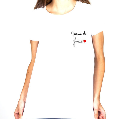 "T-shirt Maman de ""..."""