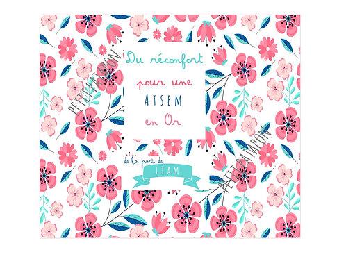 Tablette atsem personnalisée motif floral