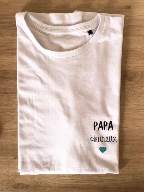 T-shirt Papa Heureux
