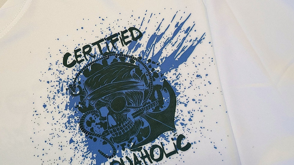 Certified Aquaholic Pirate UV Short Sleeve